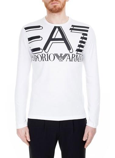 EA7 Emporio Armani  T Shirt Erkek T Shırt 3Hpt11 Pj02Z 1100 Beyaz